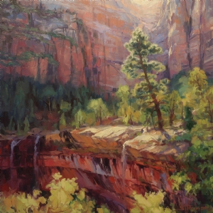Last Light in Zion by Steve Henderson of Steve Henderson Fine Art